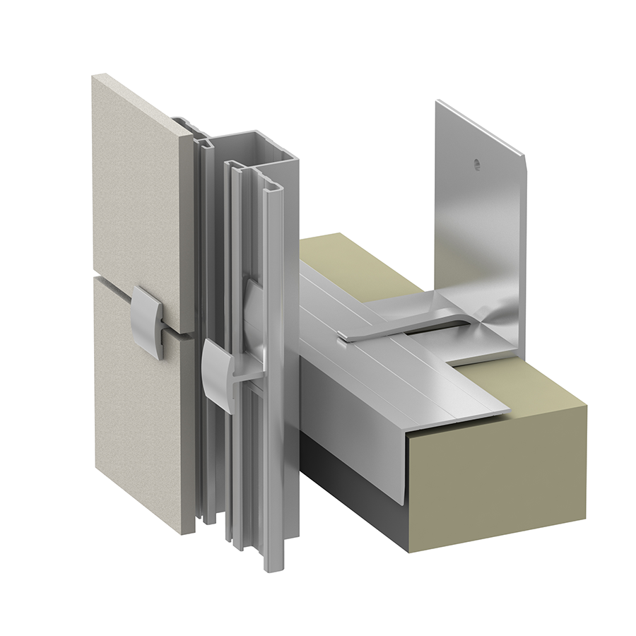 Alpha Hci.20 Rainscreen Aluminum Sub-framing System for Ceramic Panels