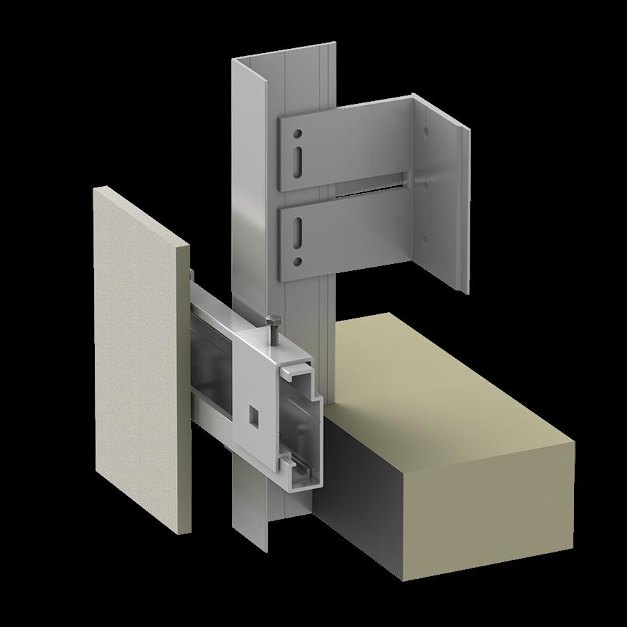 Alpha Vci.40 Rainscreen Aluminum Sub-framing System