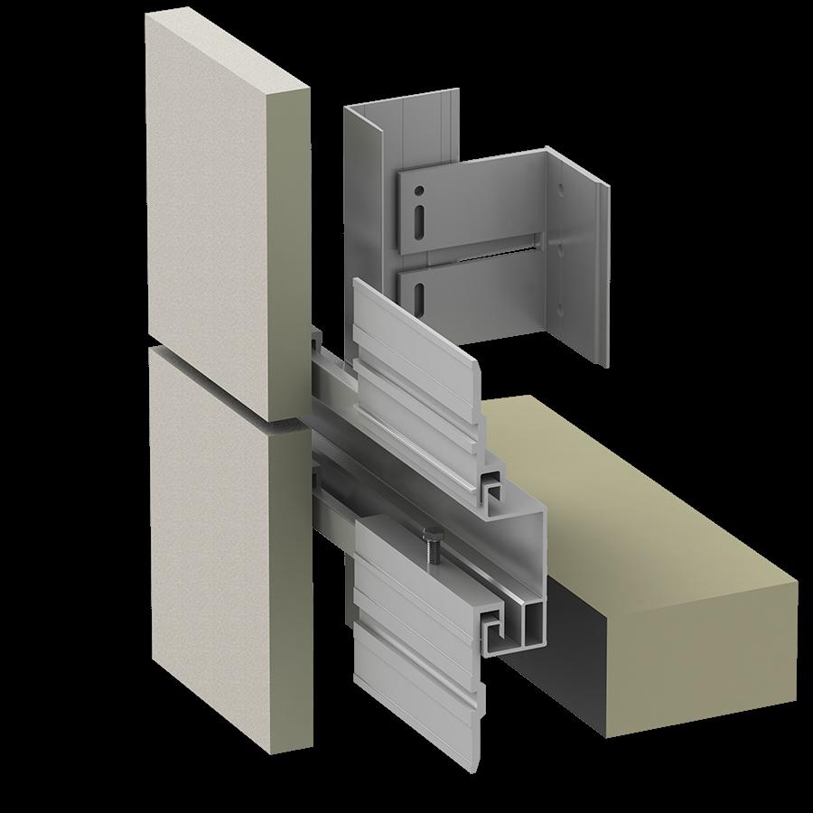 Alpha Vci.44 Rainscreen Aluminum Sub-framing System