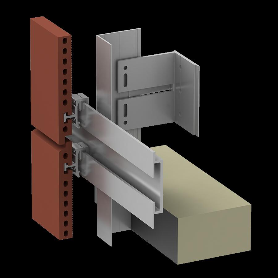 ECO Cladding Alpha Vci.45 Horizontal Rail System