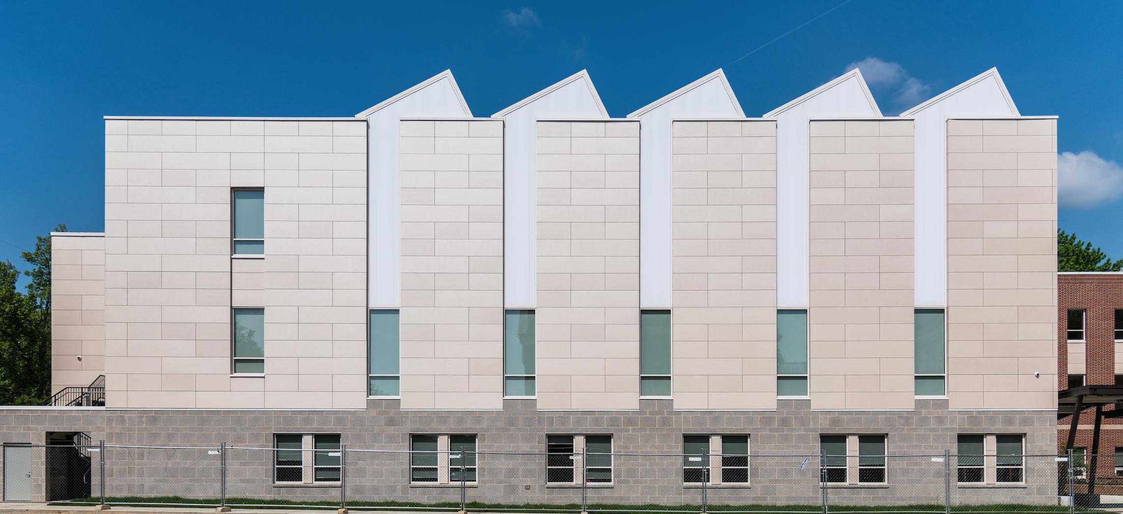 Cladding Corp Swisspearl DC International School Elevation