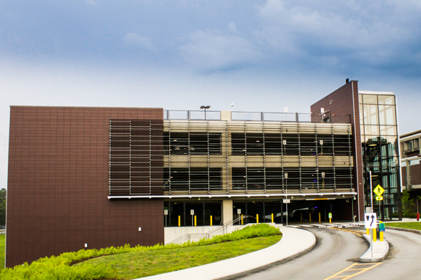 UMASS Lowell Parking Garage – Lowell, MA with Cladding Corp