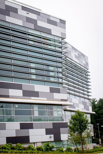 Cladding Corp's Plus5 system on the HPL panels at Goodwin College Academy – East Hartford, CT