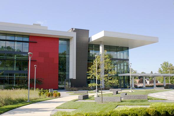 Bridgestone Training Center fiber cement panels by Cladding Corp