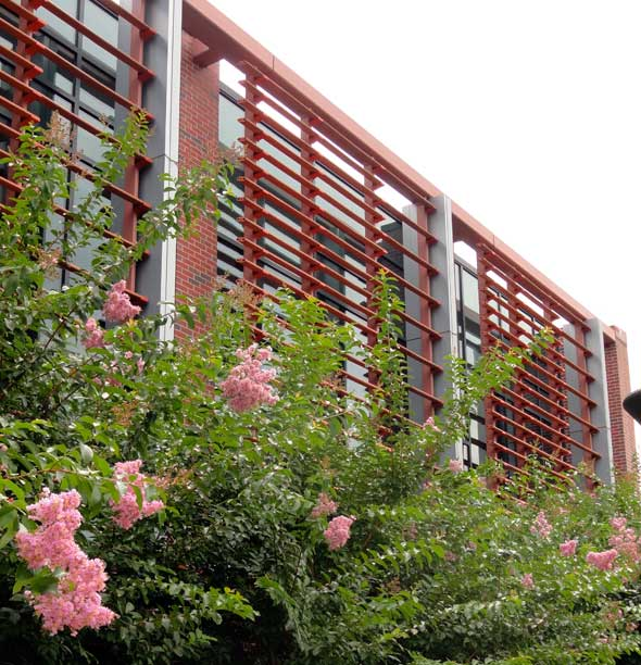 Cladding Corp Terra5 Terracotta Sunscreen Louver System Elevation