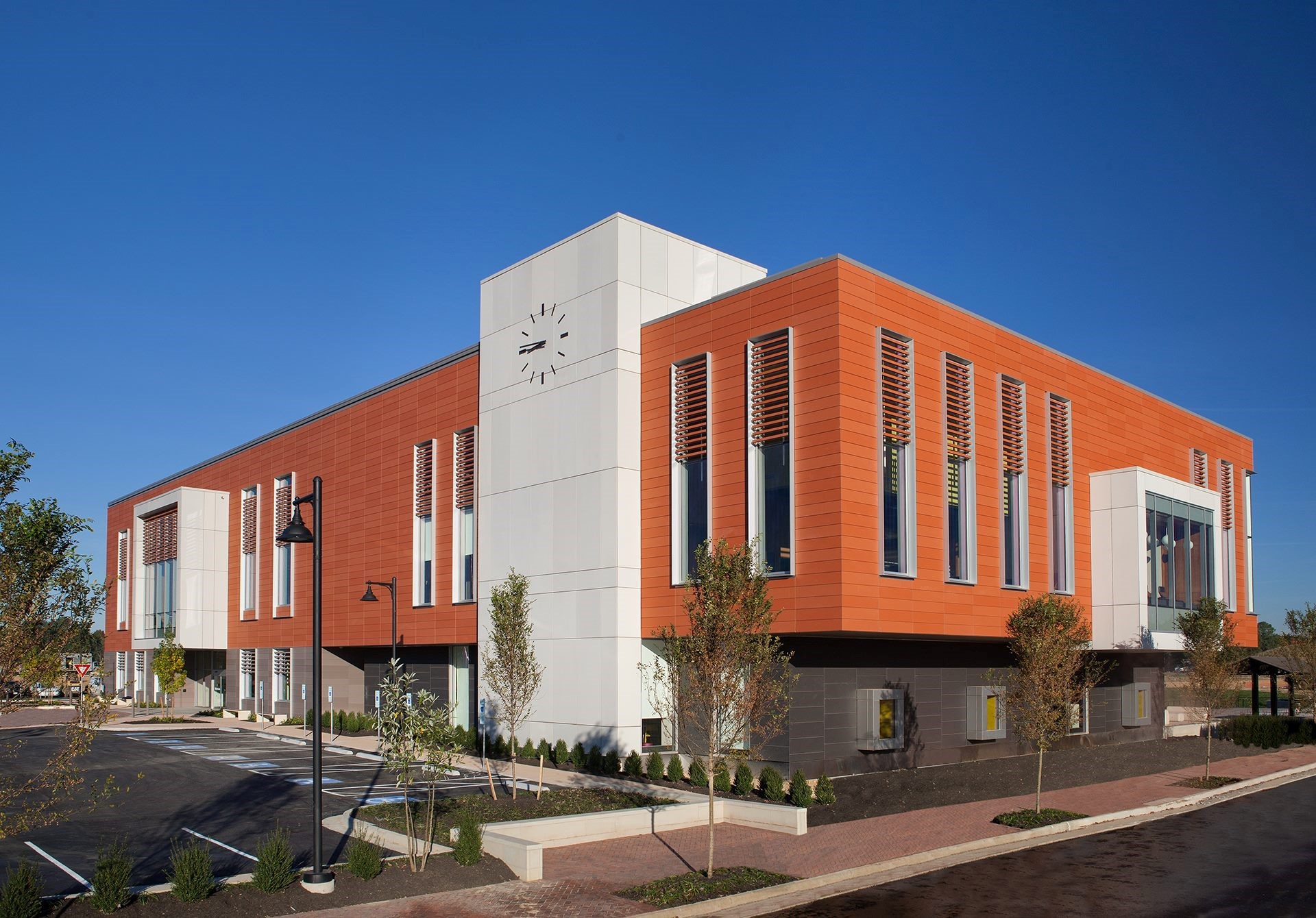 Cladding Corp - Libbie Mill Library - Swisspearl - Large Format Fiber Cement Cladding