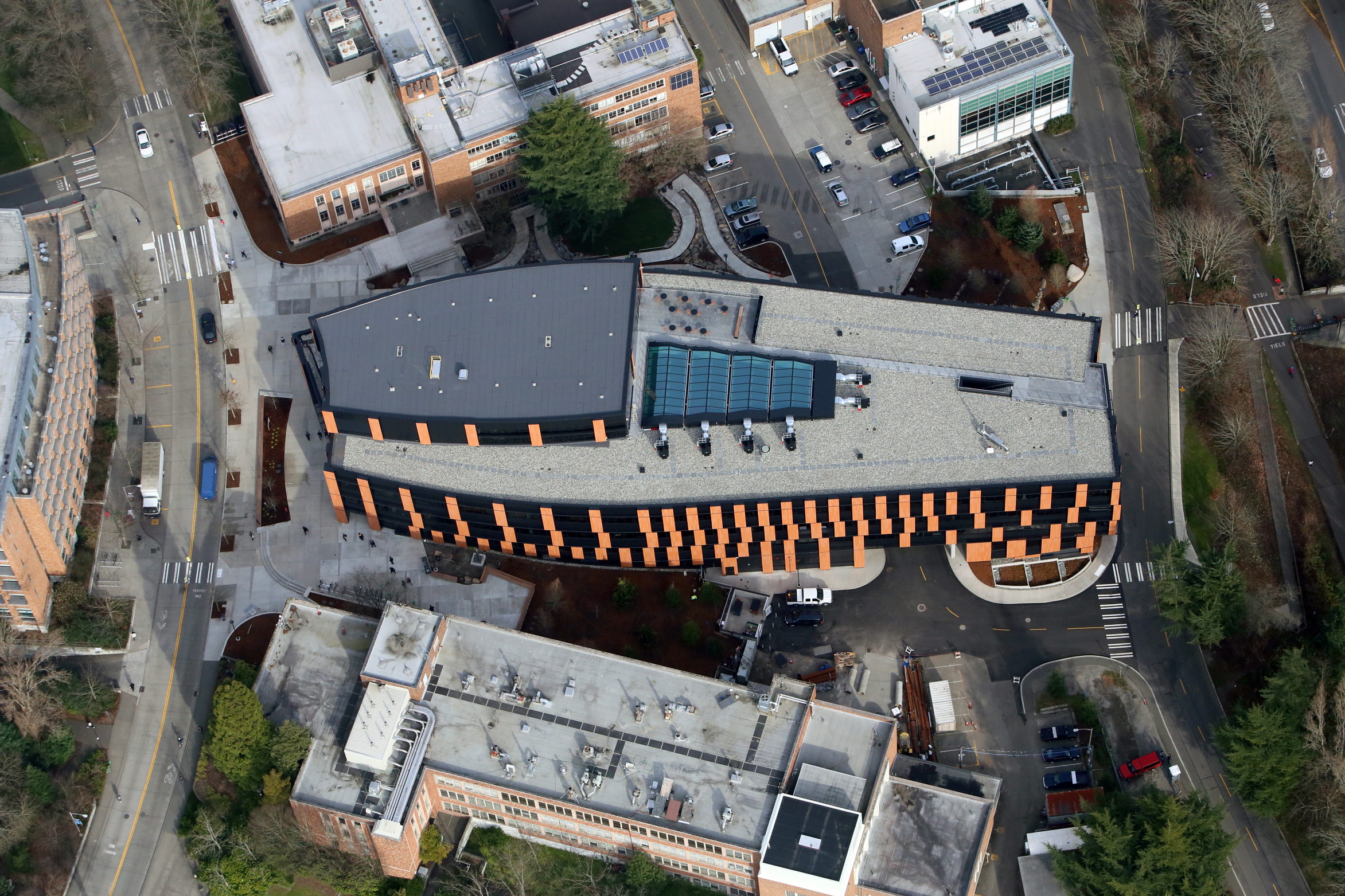 Aerial View of Gates Center for Computer Science & Engineering