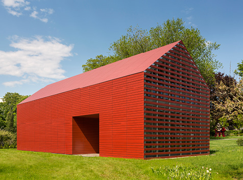 Roger Ferris + Partners Red Barn with Cladding Corp SWISSPEARL®