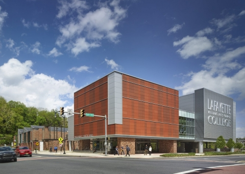 Cladding Corp Lafayette College Theater Terra5 Terracotta Rainscreen Cladding