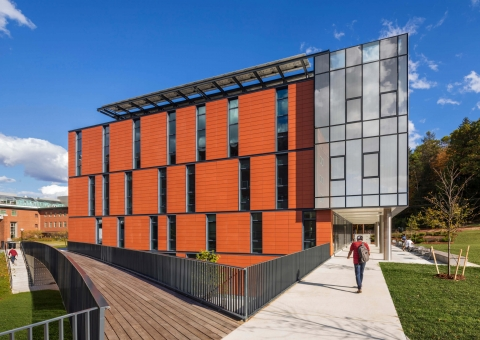 Terra5 Facade for Dartmouth Anonymous Hall Renovation