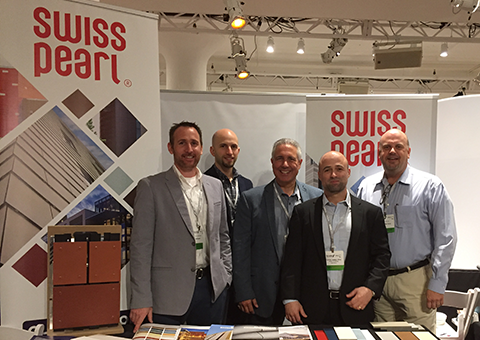 Cladding Corp SWISSPEARL® Team at Facades+ NYC 2017