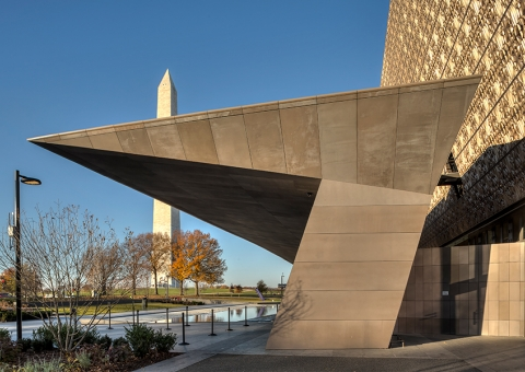 NMAAHC Rainscreen System Supported by Cladding Corp