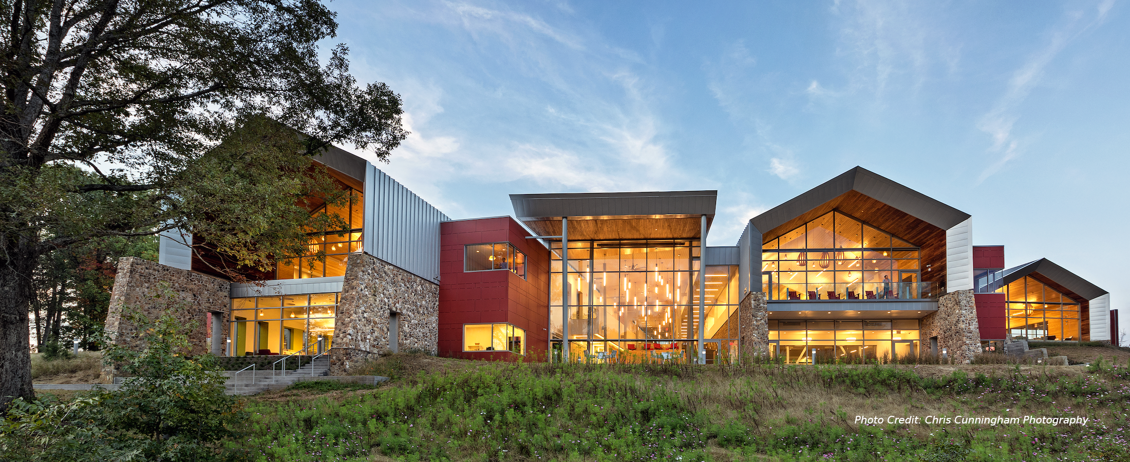 Varina Area Library - Richmond, VA - Elevation -  Photo Credit: Chris Cunningham Photography