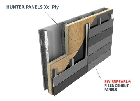 Cem5 Hunter Xci Ply Rainscreen Cladding Wall Section