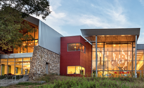 Cladding Corp Varina Area Library Richmond, VA - Photo Credit: Chris Cunningham Photography