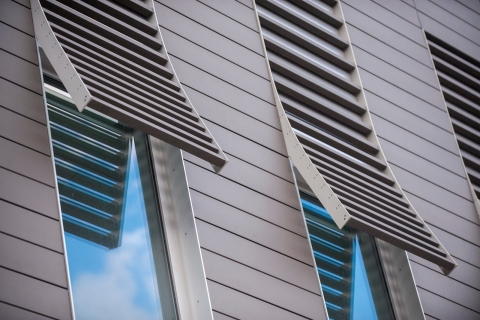 Terra5 Rainscreen Sunscreen Installation at University of Iowa